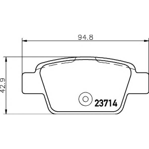 MINTEX MDB2238 Тормозные  колодки