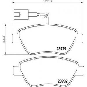 MINTEX MDB2239 ТОРМОЗНЫЕ КОЛОДКИ (дисков торм.)
