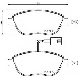 MINTEX MDB2240 Тормозные  колодки