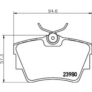 MINTEX MDB2258 ТОРМОЗНЫЕ КОЛОДКИ (дисков торм.)