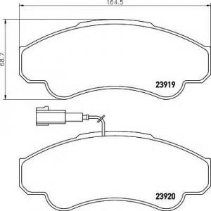 MINTEX MDB2329 ТОРМОЗНЫЕ КОЛОДКИ (дисков торм.)