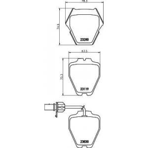 MINTEX MDB2358 ТОРМОЗНЫЕ КОЛОДКИ (дисков торм.)