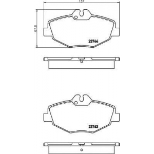 MINTEX MDB2539 ТОРМОЗНЫЕ КОЛОДКИ (дисков торм.)