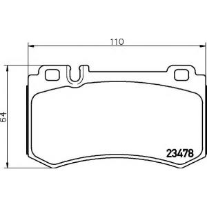 MINTEX MDB2621 Комплект тормозных колодок, дисковый тормоз Мерседес Слр