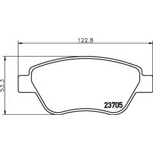 MINTEX MDB2644 ТОРМОЗНЫЕ КОЛОДКИ (дисков торм.)