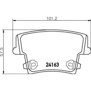 MINTEX MDB2695 Комплект тормозных колодок, дисковый тормоз Додж Чарджер