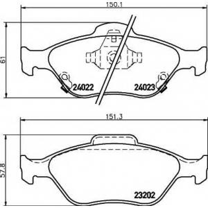 MINTEX MDB2769 Тормозные колодки (дисков. тормоз)
