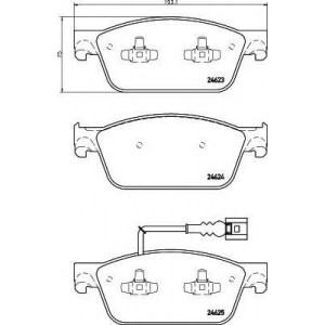 MINTEX MDB3060 Тормозные колодки