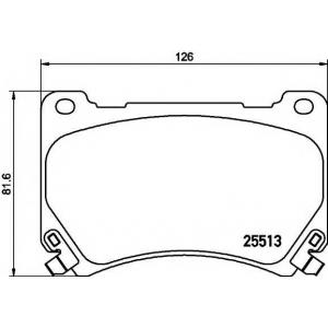 MINTEX MDB3218 Комплект тормозных колодок, дисковый тормоз Хюндай