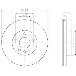 MINTEX MDC1017 Тормозной диск