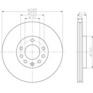 MINTEX MDC1632 Тормозной диск