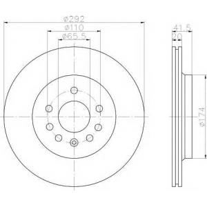 MINTEX MDC1675 MINTEX   Тормозной диск задн.  VECTRA C 02-