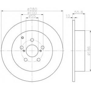 MINTEX MDC1696 Тормозной диск