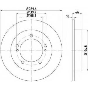 MINTEX MDC2337 Тормозной диск