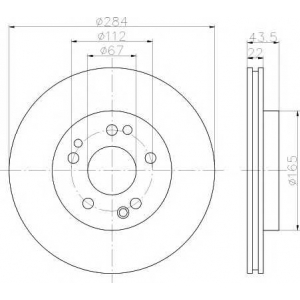 MINTEX MDC373 Тормозной диск