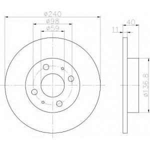 MINTEX MDC592 Тормозной диск