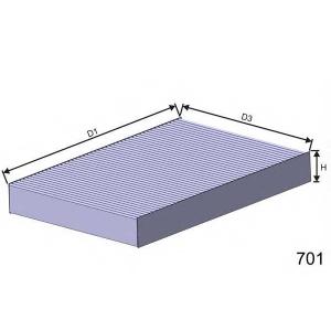 MISFAT HB157 Фильтр салона FIAT SCUDO, ULYSSE; LANCIA PHEDRA; PEUGEOT 807, EXPERT 1.6-3.0 10.95-
