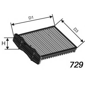 MISFAT HB202 Фильтр салона LANDROVER FREELANDER 1.8-2.5 V6 11/00-