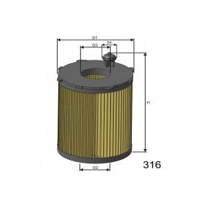 Масляный фильтр l104 misfat - FORD C-MAX II вэн 1.6 TDCi