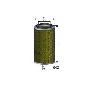 MISFAT R187 Фильтр воздуха DAF SB220 MAN 14/15/18/25.224(D0826) DB xx24(9/90-) IVECO