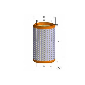 MISFAT R194 Фильтр воздуха RENAULT CLIO, RAPID 1.8/1.9D 08.90-09.98
