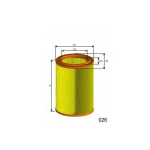 MISFAT R252 Фильтр воздуха CITROEN AX/SAXO 1.5D 08/94-09/03
