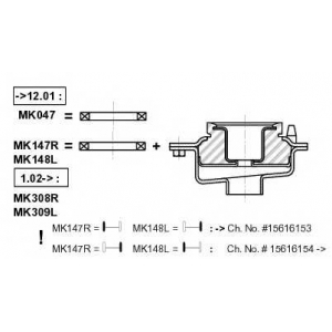 MONROE MK047 Опора стойки амортизатора MONROE
