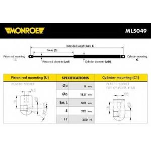 MONROE ML5049 Амортизатор багажника VW (пр-во Monroe)