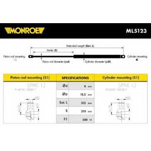 MONROE ML5123 Амортизатор багажника
