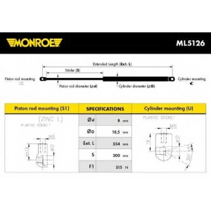 MONROE ML5126 Gas spring