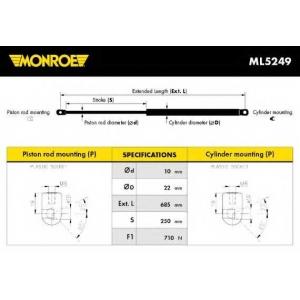 MONROE ML5249 Амортизатор багажника VW T4 (пр-во Monroe)