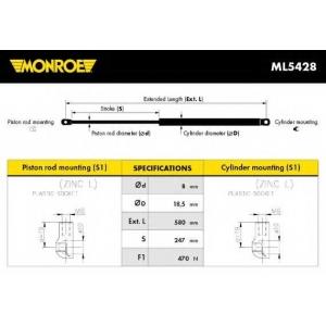 MONROE ML5428 Gas spring