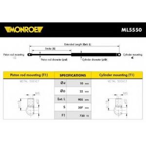 MONROE ML5550 Амортизатор багажника RENAULT TRAFIC (пр-во Monroe)