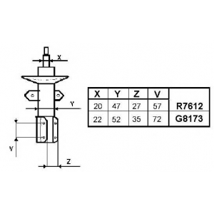 MONROE R7612 (1шт) Амортизатор MONROE Original