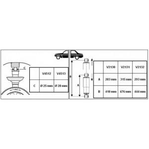 Амортизатор v2132 monroe - FIAT DUCATO фургон (250) фургон 150 Multijet 3,0 D