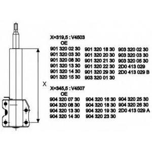 MONROE V4507 Амортизатор Van-Magnum газовый передний
