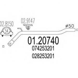 MTS 0120740 Выпускной трубопровод