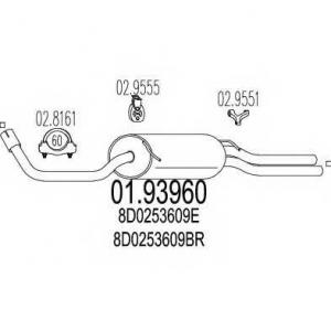 MTS 01.93960 Задняя часть выхлопной системы (Глушитель).