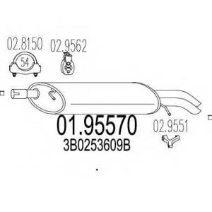 MTS 0195570 Глушитель выхлопных газов конечный