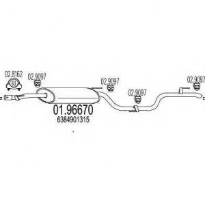MTS 0196670 Глушитель выхлопных газов конечный