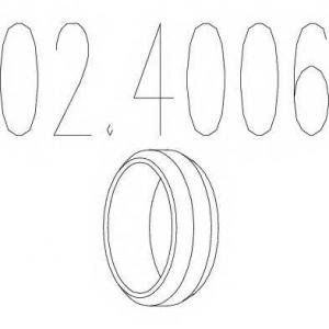 MTS 02.4006 Кольцо глушителя