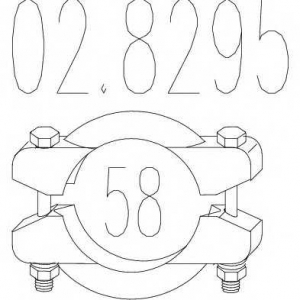 MTS 02.8295 Хомут выхлопной системы биконический (Диаметр 58 мм)
