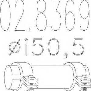 MTS 02.8369 Муфта выхлопной системы ( Тип А; внутр. диаметр - 50,5 мм; длина - 125 мм)