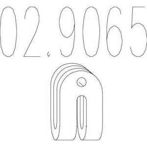 MTS 02.9065 Резиновый элемент крепления выхлопной системы