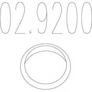 MTS 02.9200 Монтажное кольцо выхлопной системы ( D(внутр.) - 41 мм; D(наружн.) - 56,5 мм; Высота - 13 мм)