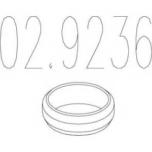 MTS 02.9236 Монтажное кольцо выхлопной системы ( D(внутр.) - 72 мм; D(наружн.) - 92 мм; Высота - 13,5 мм)