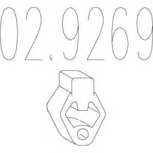 MTS 02.9269 Резиновый элемент крепления выхлопной системы