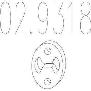 MTS 02.9318 Резиновый элемент крепления выхлопной системы