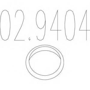 MTS 02.9404 Монтажное кольцо выхлопной системы (металическое) (D (внутр) - 43,6мм;D (наружн) - 51мм; Высота-4мм)