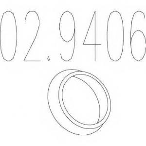MTS 02.9406 Монтажное кольцо выхлопной системы ( D(внутр.) - 86 мм; D(наружн.) - 103 мм; Высота - 13 мм)